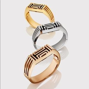 Tory Burch Gold Plated Fitbit Case Hinged Bangle